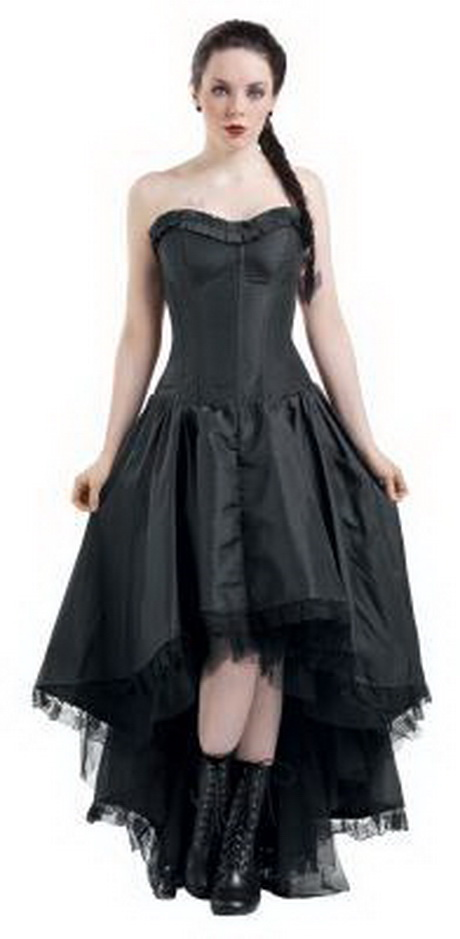 Gothic kleid lang wei