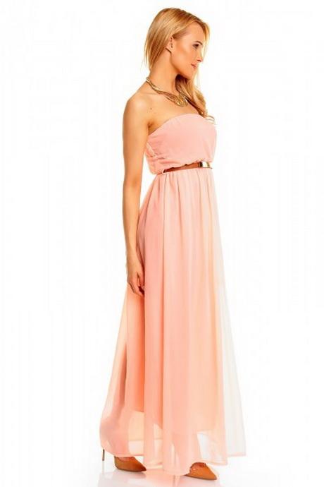 Langes kleid in apricot