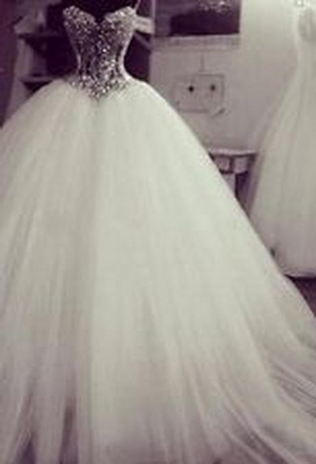 ... Schulter Luxus Brautkleid mit langer Schleppe -Blumen und Schmuckstein