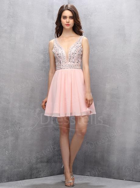 Abendkleid rosa kurz