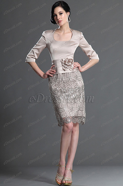 Elegantes Kleid Mit 228 Rmeln
