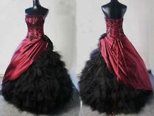 Kleid schwarz rot gothic
