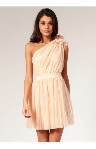 ein Schulter Kleid für Hochzeiten