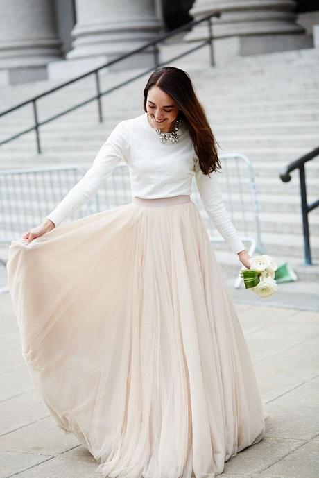 Hochzeitskleid standesamt winter
