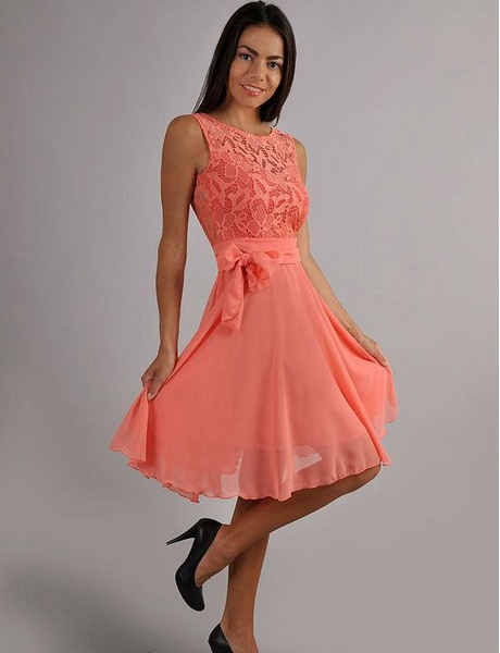 Kleid apricot brautjungfer