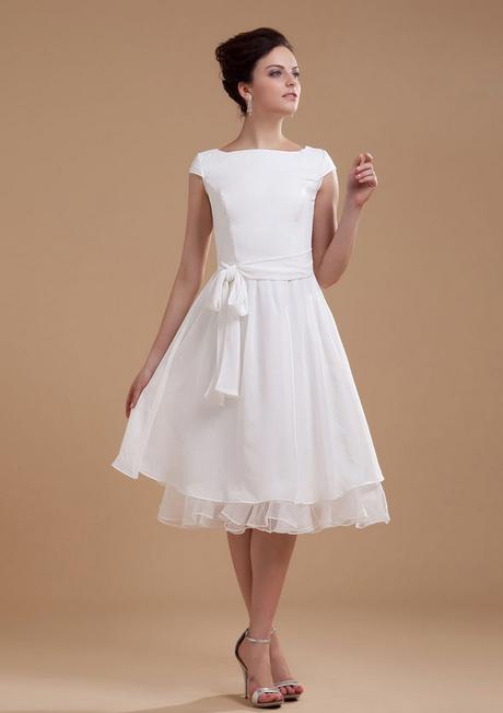 Kleid weiß kurz hochzeit