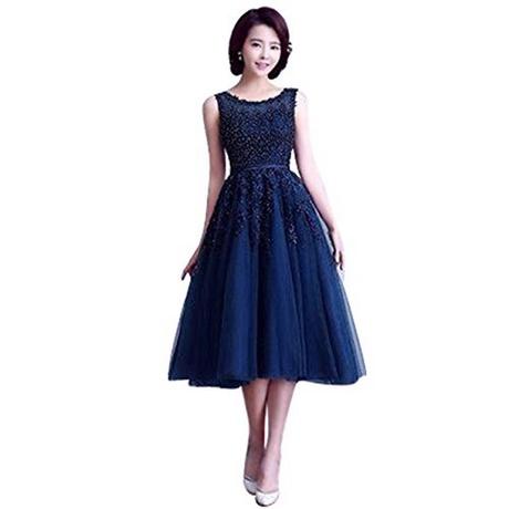 Blau Knielang kleid | Kleid & Kleidung