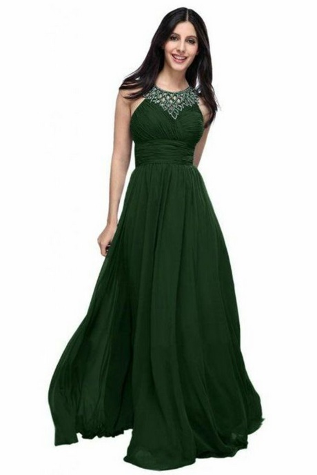 Langes grünes kleid
