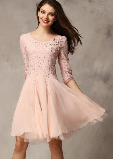 Rosa kleider kurz