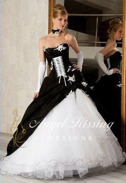 Kleid schwarz weiss zur hochzeit