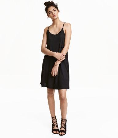 Schwarzes jerseykleid