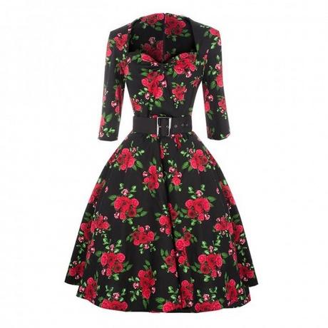 Sommerkleid blumen schwarz
