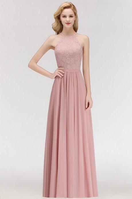 Rosa kleid rückenfrei