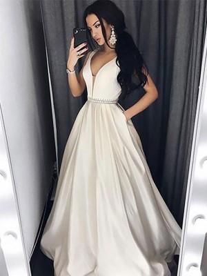 weißes kleid wadenlang