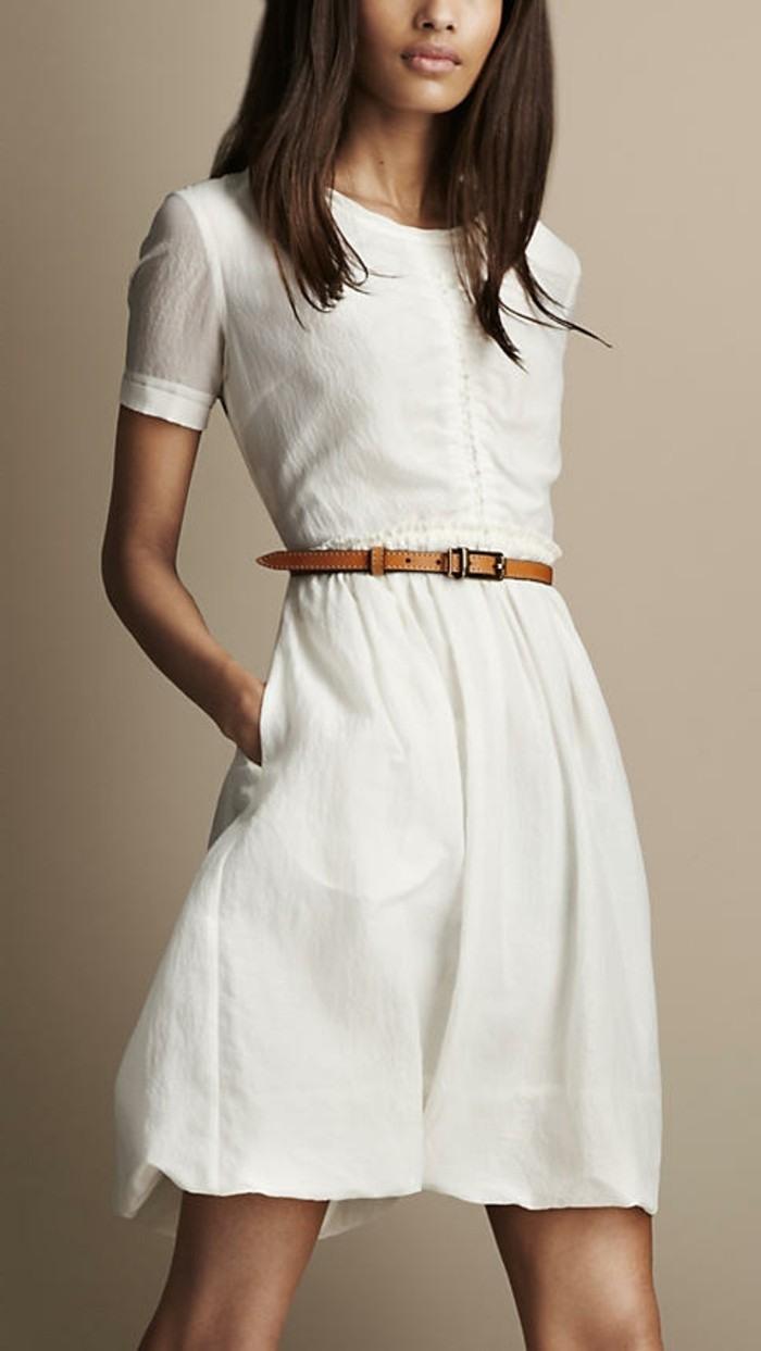 weißes abendkleid knielang
