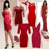 Rotes partykleider