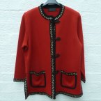Rote strickjacke damen