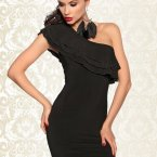 One shoulder kleid frisur