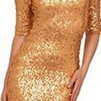 Kleid pailletten gold