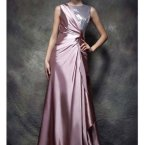 Satin abendkleid lang