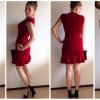 Outfit rotes kleid