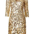 Paillettenkleid gold