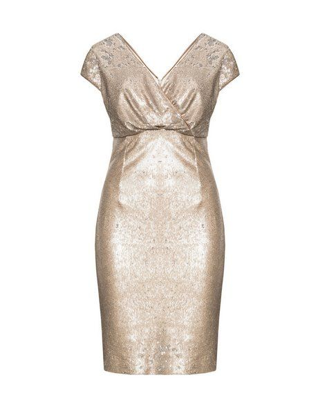 Cocktailkleid gold pailletten